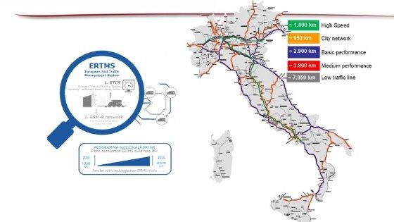 Mappa rete ferroviaria italiana