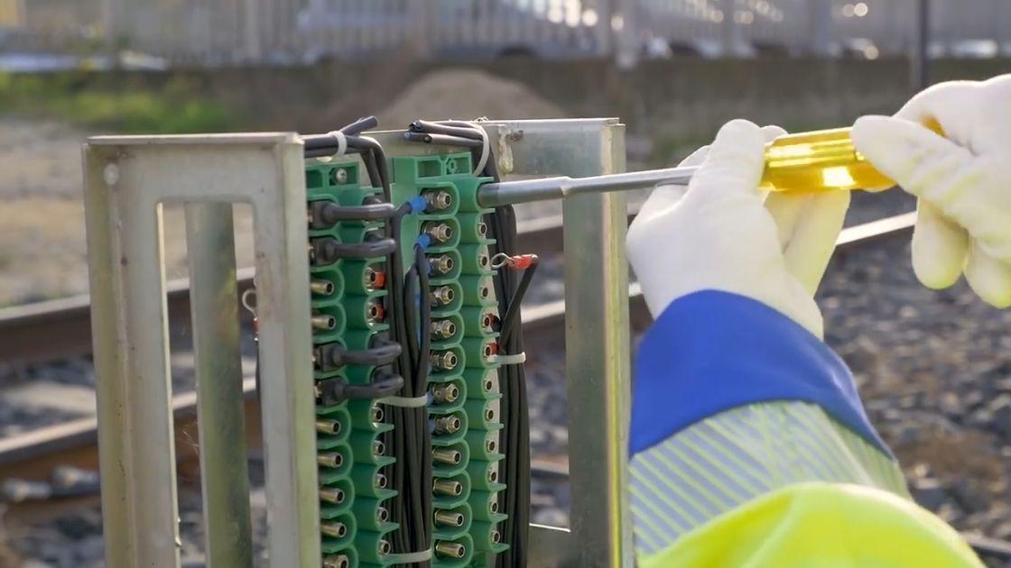 SGS nelle ferrovie: manutenzione della morsettiera. Esempio di 3 componenti