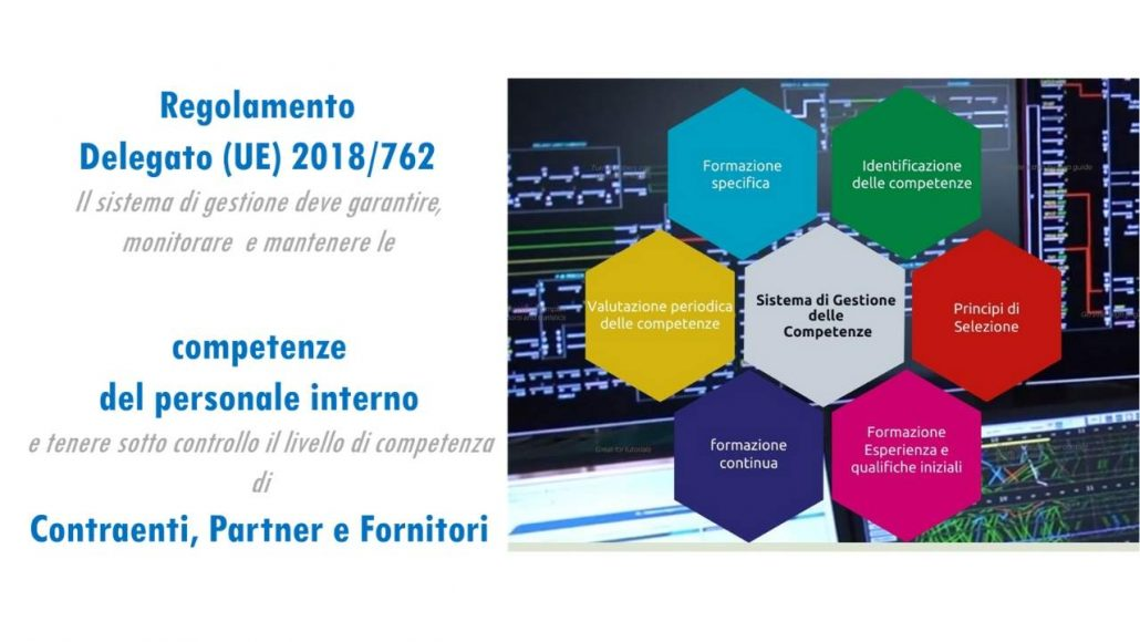 Competenze del personale e fornitori in materia di Reg.(UE) 402/2013