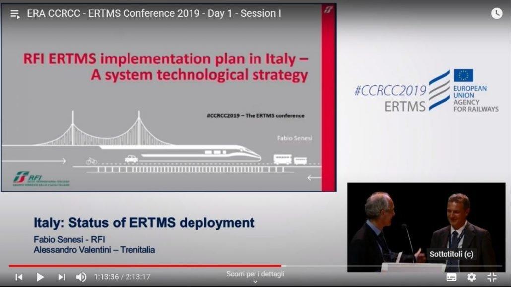 Ferrovie dello Stato Lavora con noi: Fabio Senesi Specialista ERTMS al CCRCC2019 ERTMS