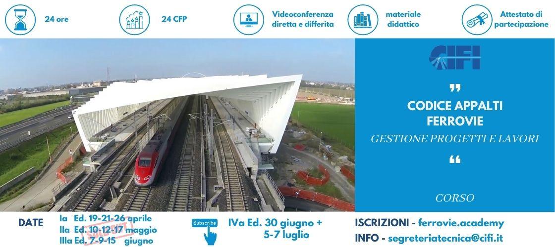 corso codice appalti ferrovie proposto dal CIFI